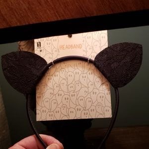 New Halloween Express Lace Cat Ears Headband